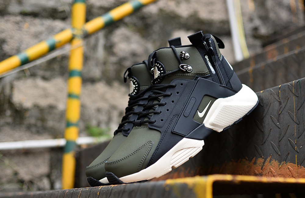 2018 Men Nike Huarache X Acronym City MID Leather Green Blue